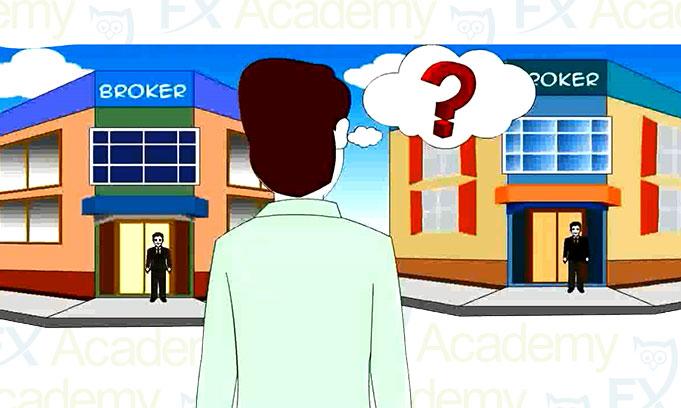 trader choosing an online broker